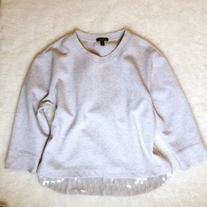 J. Crew Sequin Sweatshirt